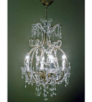 Pristine Crystal Drop 4 Light Sphere Chandelier.