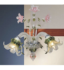Floral Murano Glass 2 Light wall lamp