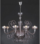 Murano Glass 8 Light Chandelier.