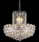 6 Light Disc Style Crystal Chandelier