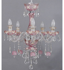 Clear & Coloured Glass Murano Style Chandelier
