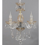 Murano Style Chandelier With Hanging Crystal