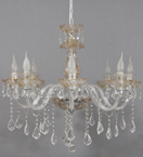 Clear & Tinted Murano Glass Chandelier