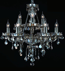 Hale Chandelier With Ash Grey Crystal Leaf Drops