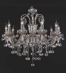 Brandy Coloured 10 Arm Crystal Chandelier
