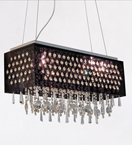 5 Light Framed Hanging Crystal Chandelier