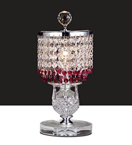 Pink Crystal Drop Table Lamp