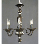 Hand Made Single Tier Murano Style Chandelier