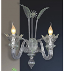 Floral Design Glass wall lamp