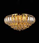 Modern Flush Mounted Coloured Crystal Chandelier