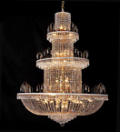 Grand Clear Crystal Chandelier