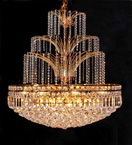 20 Light Coloured Crystal Chandelier