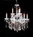 Traditional Clear Crystal Chandelier
