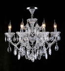 6 Light Laura Chandelier With Clear Crystal