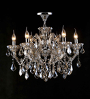 6 Light Laura Chandelier With Coloured Crystal