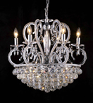 Modern Chandelier With Coloured Crystal