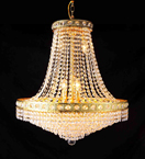 Chandelier With Coloured Crystal Detail