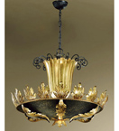 Caronte Design Chandelier curve details and the centre column is metal worked by hand
