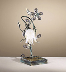 Menta Design Hand Made Metal Flower Desk Lamp