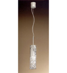 Forme Design silver pendant that has drill, flame cut & glass details