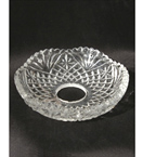 Glass Drip Tray With Three Leaves Design