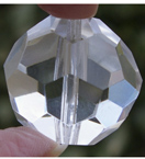 Holed Faceted Crystal Balls
