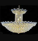 Elegant dome shaped tiered crystal chandelier