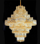 Diamond shaped elegant crystal chandelier
