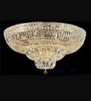 dome shaped surface mounted 21 light crystal chandelier