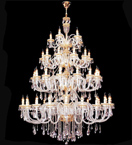 19th century crystal drop tiered chandelier