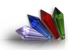 Coloured Crystal Pieces